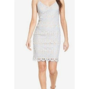Leith Baby Blue Lace Bodycon Dress Small